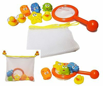 Fishing bath Time Play Set Storage Net Tidy Bag Game duck baby toddler