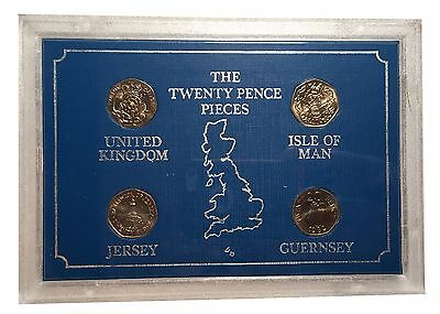 1983 The Twenty Pence Pieces Set form UK, Jersey, Guernsey and Isle of Man