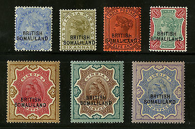 Somaliland Protectorate   1903  Scott # 14-20   Mint Very Lightly Hinged Set