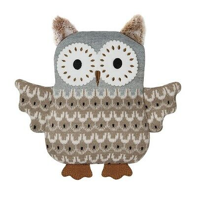 Aroma Home Grey Owl Knitted Lavender Scented Microwaveable Hottie Body Warmer