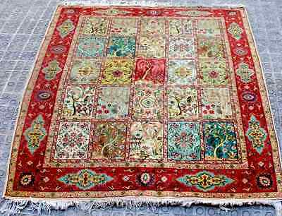 Middle Eastern Rug. Wool Knotted By Hand. 40-50's.