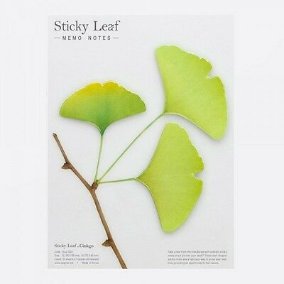 Notes autocollantes Sticky Leaf Gingko printemps Appree