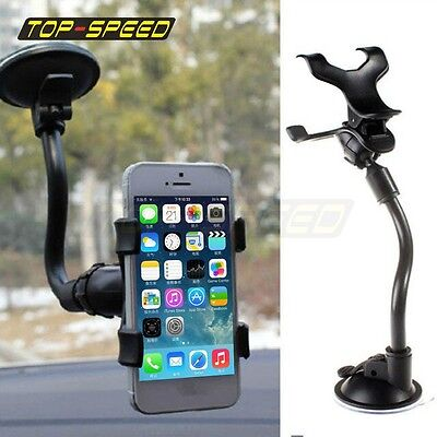 Universal Car Phone Holder Stand 360° Windscreen Dashboard Car Mount For GPS