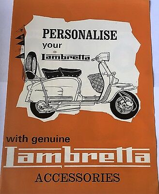 rare vintage scooter /lambretta brochure,mods,accessories for all models