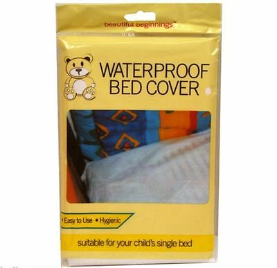 BEAUTIFUL BEGINNINGS Waterproof Fitted Mattress Protector Cover All Protection