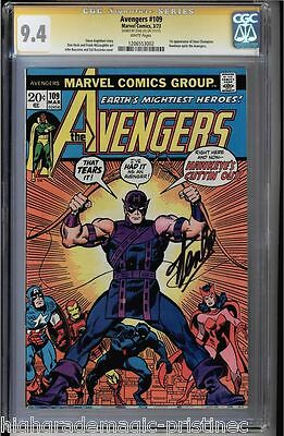 Avengers #109 Cgc 9.4 White Stan Lee Ss 1St Appearance Of Imus C. #1206553002