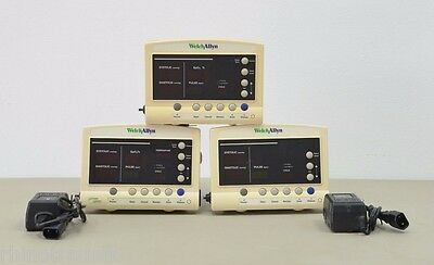 Lot of 3 Welch Allyn 52000 Vital Signs Patient Monitor (10908,11590,11983 A12)
