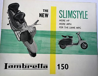 "rare vintage scooter /lambretta brochure,mods, ""THE NEW SLIMSTYLE "" '150'"