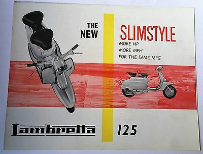"rare vintage scooter /lambretta brochure,mods, ""THE NEW SLIMSTYLE "" '125'"