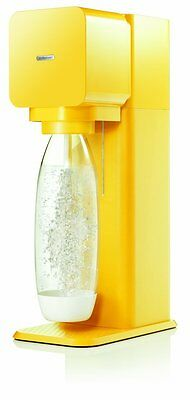 New SodaStream Play Yellow To Make Your Own Sparkling Drinks + Cylinder + Bottle
