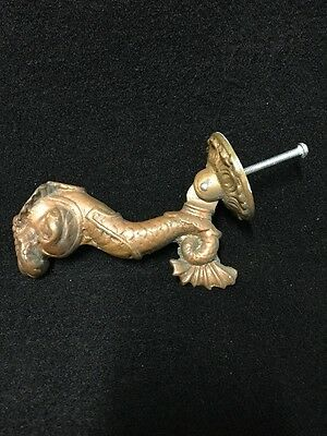 Large Antique Brass Nautical Themed Coat Hook