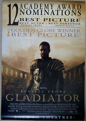 GLADIATOR MOVIE POSTER 2 Sided ORIGINAL 'Acadamy Version' ROLLED, Russell Crowe