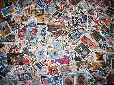 Commemorative, US, 100+ DIFFERENT Stamps, Used Off Paper, Plus Bonus (Lot 334D)