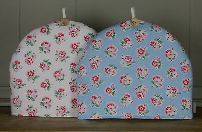 Cath Kidston Handmade Fabric Tea Cosy Ashdown Vintage Rose Blue white fabric
