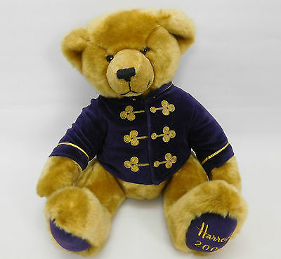 "Harrods 2000 Foot Dated 13"" Annual Christmas Teddy Bear In Purple Velvet Coat"