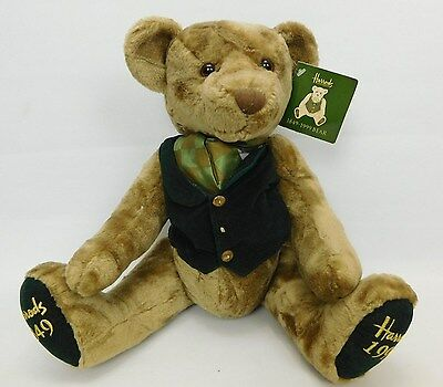 Harrods 1849 - 1999 Special 150 Years Anniversary Jointed Teddy Bear With Tag