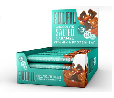 Fulfil bar protein vitamin 15 bars White Chocolate Cookie Dough caramel mint