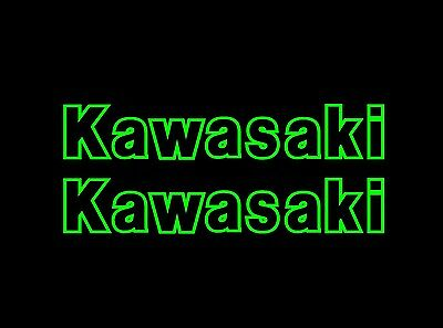 Kawasaki Outline Style sticker / decal pair Fairing 275mm green or pick colour
