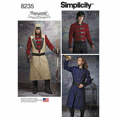 SIMPLICITY 8235 COSPLAY or Steampunk Jacket & Coat Mens Costume ...