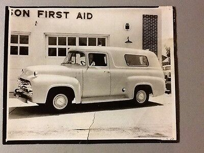 ORIGINAL Vintage Photograph of Mid-1950's Ambulance, 8 x 10 VERY COOL!