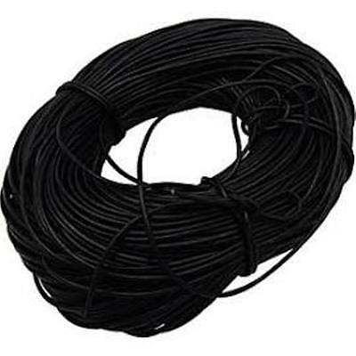 3mm Black Leather Cord AUTHENTIC 100% LEATHER 1M 2M 3M Thong Lace String Round