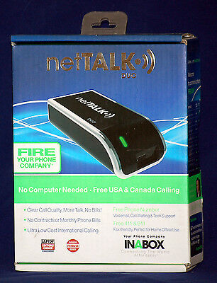 Nettalk Duo VOIP Phone Service 12 Month Free Plug n' Play Free USA/Canada Calls