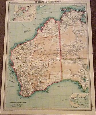 Large Vintage Map: Western Australia: The Times Atlas Scale 1: 6,000,000