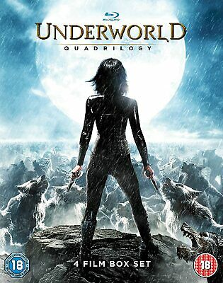 Underworld Quadrilogy 1 2 3 4 Complete Box Set Collection New Sealed Blu Ray