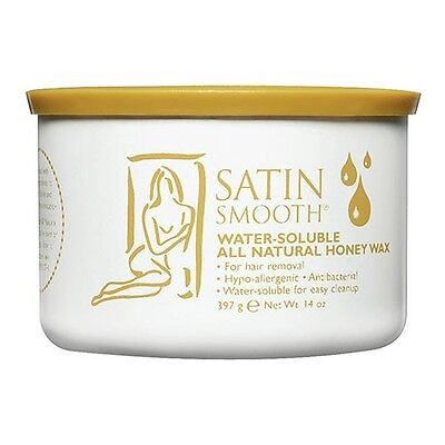 Satin Smooth Water Soluble All Natural Honey Wax, 14 Oz