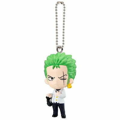 One Piece Film Gold Swing Mascot PVC Keychain Figure SD Roronoa Zoro @6673