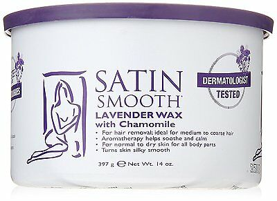 SATIN SMOOTH Lavender Wax with Chamomile 14-Ounce