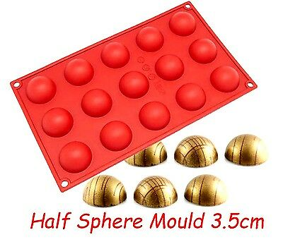 Half Sphere Ball Silicone Mould 3.5cm Jelly Chocolate Fondant Cake Decorating