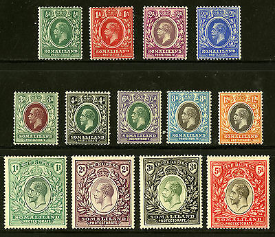 Somaliland Protectorate   1912-19  Scott # 51-63   Mint Lightly Hinged Set