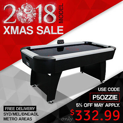 2017 Model Air Hockey Table for Game Room Kids - 6FT with E-score Counter Black