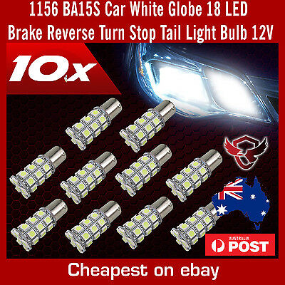 10 x 1156 BA15S Car White Globe 18 LED Brake Reverse Turn Stop Tail Light Bulb