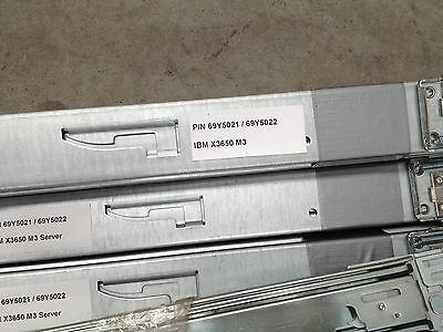 IBM X3550 M3 Server Rails Left and Right complete set 69Y5021 69Y5022