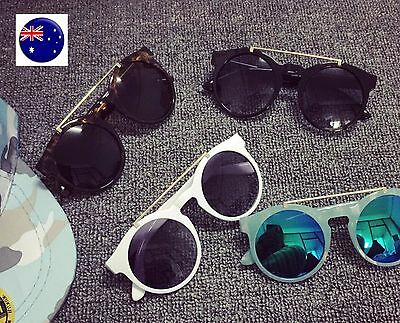 Children Girl Boy Kids Retro Round Frame Fashion sun beach eye sunglasses Prop