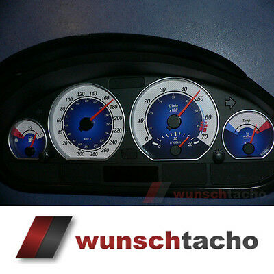 speedometer speedometer dial for BMW E46 Petrol Blue 310 Kmh M3