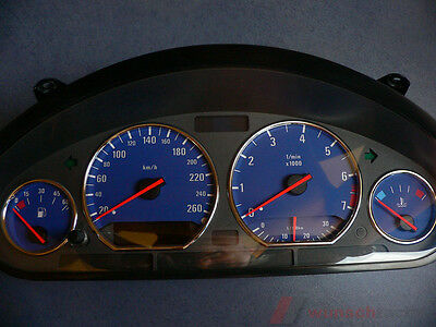 speedometer speedometer dial for BMW E36 Petrol Alp-Blue 260Km/h Top