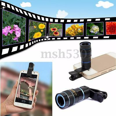 8x Zoom Telescope Lens Back for Mobile Cell Phone Camera With Universal Clip on