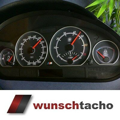 Speedometer dial forspeedometer BMW E46 Corona 300Kmh Petrol M3