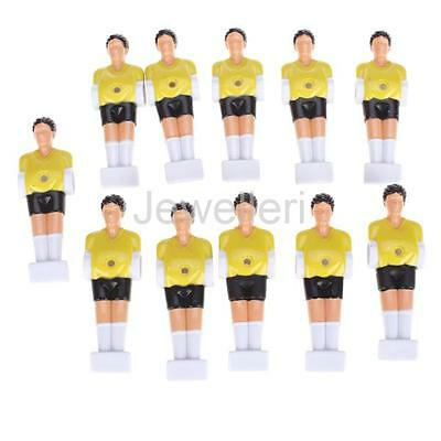 11PCS Yellow/White Foosball Soccer Table REPLACEMENT PARTS MAN Players set