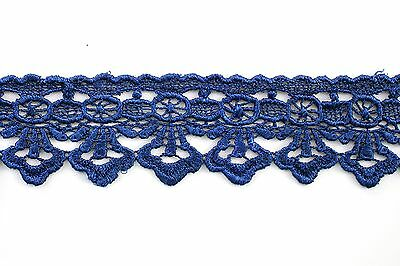 """1.75"""" Turquoise Black Lilac Pink Green Navy White Gray Venice Embroidery Lace"""