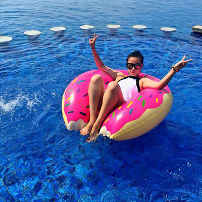 Gigantic Doughnut Inflatable Swimming Float Pool Toys for Adults Water Games