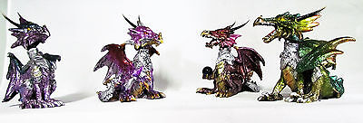 FIGURINE~ DRAGON WITH BOBBLE HEAD 13cm~(4 COLOURS TO CHOOSE FROM)