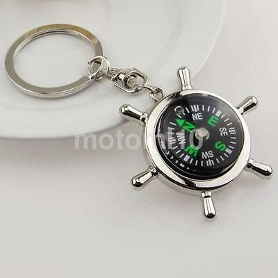 Outdoor Survival Camping Compass Keychain Car Key Ring Compass Hiking Tool US