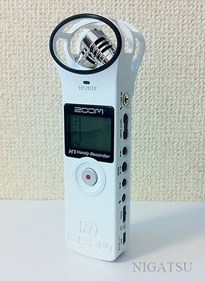 NEW ZOOM H1W Handy Recorder H1 Ver2.0 Linear PCM IC Digital Audio Portable White