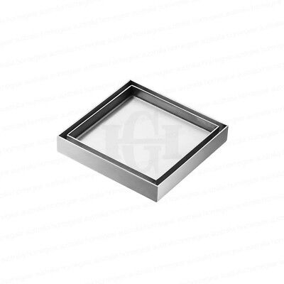 FITS 100mm | 304 STAINLESS STEEL SQUARE SMARTWASTE TILE INSERT FLOOR WASTE DRAIN