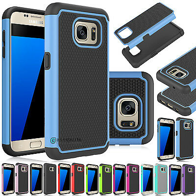 Shockproof Hybrid Rubber Armor Hard Case Cover for Samsung Galaxy S7 / S7 edge