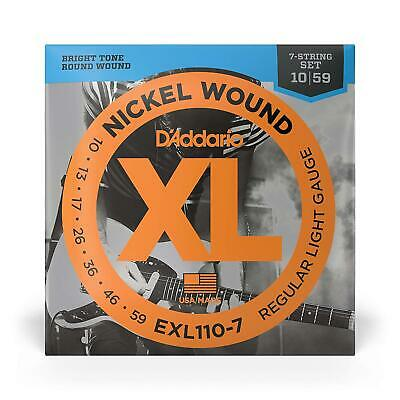 D'Addario EXL110-7  Light Electric Guitar Strings  7-String Set  10 - 59